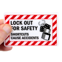 Lockout Tagout Trained Safety Wallet Cards