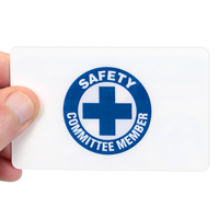 2 - Sided Safety Committee Member with Symbol