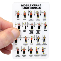 Mobile Crane Hand Signals, wallet Card
