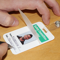 Self Laminating Safety Committee Member wallet Card
