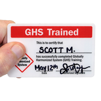 Self Laminating GHS Trained Card