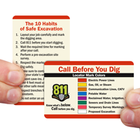 Call Before You Dig 2 sided Wallet Card