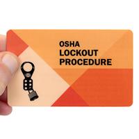 OSHA Lockout Procedure Heavy-Duty Single Safety Wallet Card