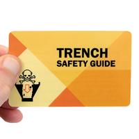Trench Safety Guide With Heavy-Duty Laminated Single Safety Wallet Card