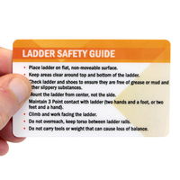 Ladder Safety Guide Heavy-Duty Laminated Safety Wallet Card