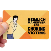 Heimlich Maneuver For Choking Victims Safety Wallet Card