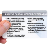 How To Prevent Carbon Monoxide Poisoning with Symptoms wallet Cards