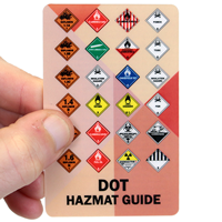 DOT Hazmat Guide With Front And Back