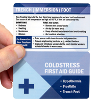 Cold Stress First Aid Guide(Bi-Fold) Laminated Safety Wallet Card