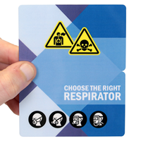 Choose The Right Respirator with Graphic safety wallet Card