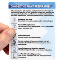 Bi-Fold Choose The Right Respirator with Graphic
