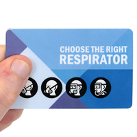 Choose The Right Respirator with Graphic Fold - Over Safety Wallet Card