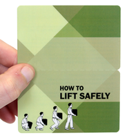 How To Lift Safely Fold-over Safety Wallet Card