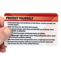 Heat Stress Symptoms Protect Yourself Bi-Fold Wallet Card