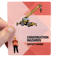 Construction Hazards, Fold-over Laminated Safety Wallet Card