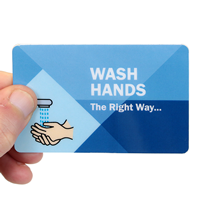 Bi-Fold Wash Hands The Right Way Safety Wallet Card