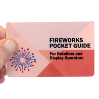 Fireworks Pocket Guide Bi-Fold Laminated Safety Wallet Card