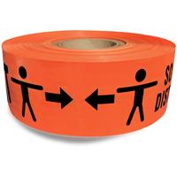 Roll of orange keep 6 feet apart barricade tape