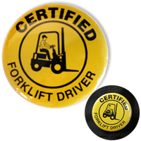 Certified Fork Lift Driver Buttons