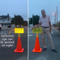 Reflective custom cone top sign