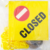 Closed Sign, Magnet Rings, Hook, Chain