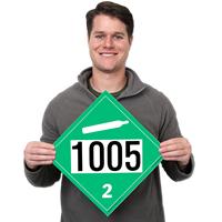 UN 1005 Ammonia Dot Placards