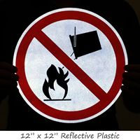 Apply No Water Firefighting Personnel Safety Symbol Label