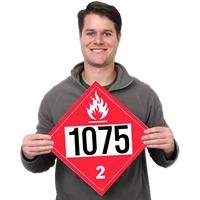 UN1075 Petroleum Dot Placards