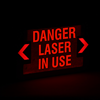 Danger Laser In Use LED Exit Sign