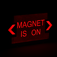 Magnet Is On LED Exit Sign with Battery Backup