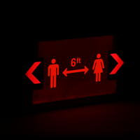 social distancing LED Exit Sign