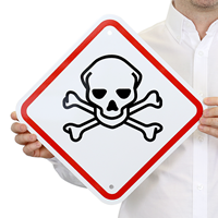 GHS Toxic Poison ISO Skull  Sign