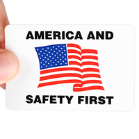 America Safety First Hard Hat Labels