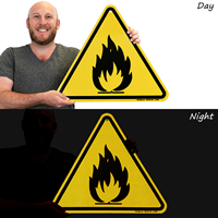 ISO Fire Hazard Symbol Sign