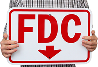 Fdc Downward Pointing Arrow Signs