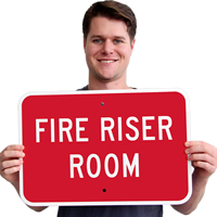 Fire Riser Room Safety Signs