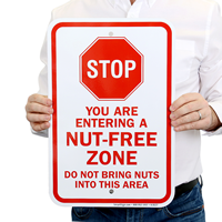 Peanut Allergy STOP Sign