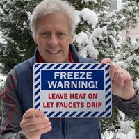 Freeze warning sign