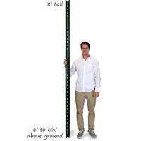 Municipal U-Channel Sign Post - 8' tall