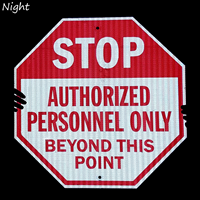 STOP: Authorized personnel only beyond this point sign