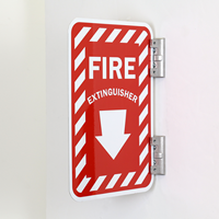 Fire Extinguisher Sign (with Bottom Down Arrow)