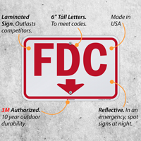 Fdc Down Arrow Sign