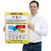 Diesel Fuel Hazard Warning Sign