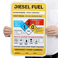 Diesel Fuel Hazard Warning Sign