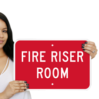 Horizontal Fire Riser Room Safety Sign
