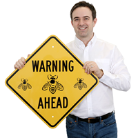 Bee Safety Warning Sign