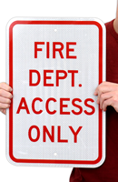 Fire Dept. Access Only Fire And Emergency Sign