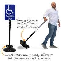 Cast Iron Base Wheel Attachment
