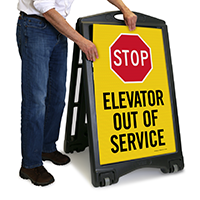 Elevator Out Of Service Sign