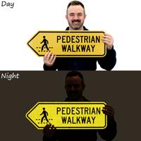 Pedestrian Walkway Reflective Sign